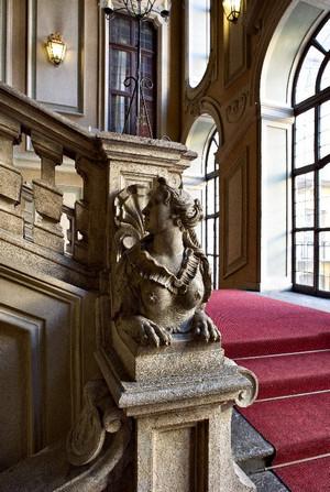Scalone d'onore di Palazzo Barolo. Fotografia di Mattia Boero, 2010. © MuseoTorino