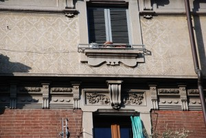 Particolare della decorazione della facciata. Fotografia Giuseppe Beraudo, 2011
