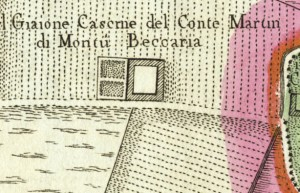 Cascina Giajone. Amedeo Grossi, Carta Corografica dimostrativa del territorio della Città di Torino, 1791. © Archivio Storico della Città di Torino