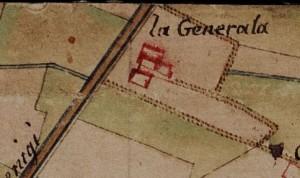 Cascina Generala. Carta delle Regie Cacce, 1816. © Archivio di Stato di Torino