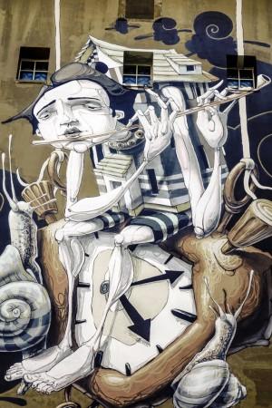 Dom, murale senza titolo, 2010, sede Circoscrizione 4. Fotografia di Roberto Cortese, 2017 © Archivio Storico della Città di Torino