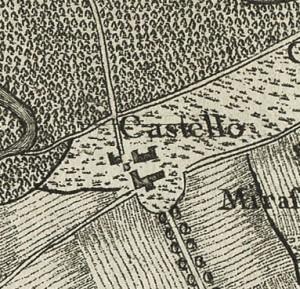 Cascina Mirafiori. Carta topografica dimostrativa dei contorni della Città di Torino, 1785. © Archivio Storico della Città di Torino
