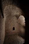 Scala di comunicazione fra le gallerie capitali alta e bassa del bastione S. Lazzaro Soccorso. Fotografia di Paolo Bevilacqua e Fabrizio Zannoni.