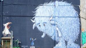 Mapu Lab, murale senza titolo, 2018, cavalcavia di corso Bramante. Fotografia di Roberto Cortese, 2018 © Archivio Storico della Città di Torino