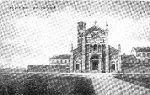 La chiesa di San Gaetano in una cartolina del 1910