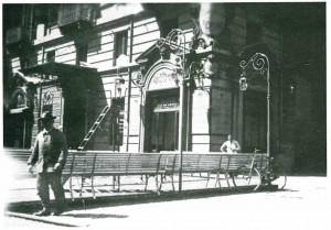 La gelateria Pepino, Fotografia di  Leonardo Cornacchia, 1932 (riproduzione da libro: Torino Anni '30 nelle fotografie di Leonardo Cornacchia, 1982, fig. 66)