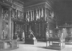 L'allestimento ottocentesco del Rondò. Fotografia tratta da Avogadro di Quaregna, Armeria antica e moderna di S.M. il re d'Italia in Torino, Armeria Reale di Torino, Torino 1898.