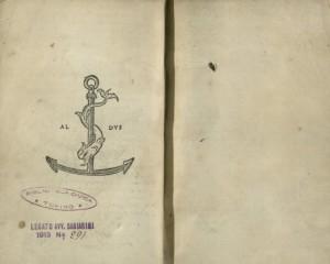 C. Plinii Secundi Nouocomensis epistolarum libri decem, Venezia, Aldo Manuzio, 1508. Biblioteca civica Centrale 69.F.47 © Biblioteche civiche torinesi