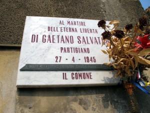 Lapide dedicata a Salvatore Di Gaetano