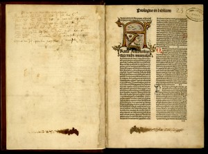 Incunabolo (Bibbia in latino). Biblioteca civica Centrale 450.B.1 © Biblioteche civiche torinesi