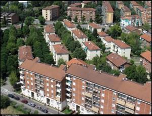 Veduta aerea del Villaggio rurale, 18° Quartiere IACP. Fotografia di Michele D'Ottavio, 2011. © MuseoTorino