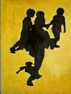 Salvatore Astore, Senza titolo, murale in piazza Campidoglio per il MAU Museo Arte Urbana, 2004,restaurato nel 2013 da Wens (Style Orange). Fotografia di Alessandro Vivanti, 2011