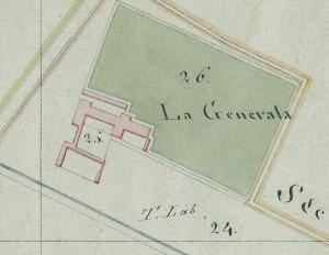 Cascina Generala. Mappa primitiva Napoleonica, 1805. © Archivio Storico della Città di Torino