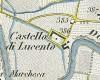 Castello di Lucento. Antonio Rabbini , Topografia della Città e Territorio di Torino, 1840. © Archivio Storico della Città di Torino