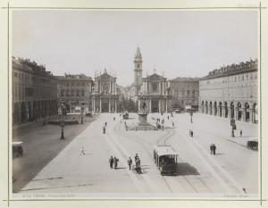 Piazza San Carlo. Fotografia Brogi. © Archivio Storico della Città di Torino