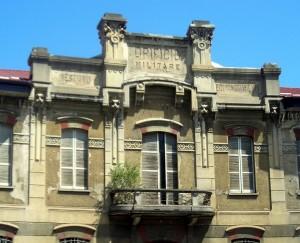 Ex Opificio Venchi – Ex Opificio Militare. Particolare della facciata. Fotografia di Silvia Bertelli.