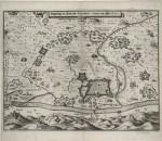 Pianta topografica della città di Torino e dei dintorni durante l'assedio del 1640, circa 1650