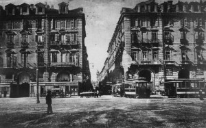 Via Roma 2, angolo piazza Castello, anni Venti © Archivio Storico Città Torino