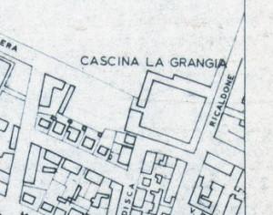 Cascina La Grangia, Grange. Istituto Geografico Militare, Pianta di Torino, 1974. © Archivio Storico della Città di Torino