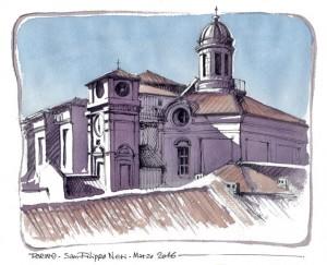 Lorenzo Dotti, Torino, San Filippo Neri, marzo 2016, acquerello