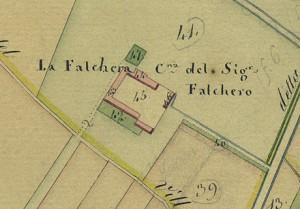 Cascina Falchera. Catasto Gatti, 1820-1830. © Archivio Storico della Città di Torino