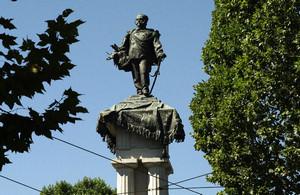 Pietro Costa, Monumento a Vittorio Emanuele II (particolare della statua del re), 1882-1899. Fotografia di Dario Lanzardo, 2010. © MuseoTorino.