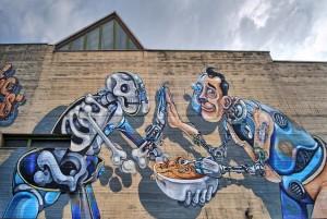 Pixel Pancho, murale senza titolo, 2010, muri dell'ex cascina Marchesa