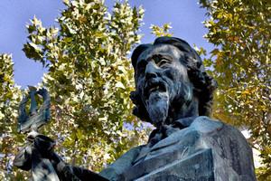 Francesco Sassi, Monumento a Felice Govean (dettaglio del volto), 1906. Fotografia di Mattia Boero, 2010. © MuseoTorino.
