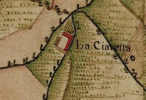 Cascina Cravetta. Carta Topografica della Caccia, 1760-1766 circa, ©Archivio di Stato di Torino