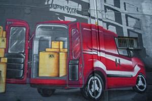 MKE, senza titolo, particolare del murale, 2012, via Massari 127. Fotografia di Roberto Cortese, 2017 © Archivio Storico della Città di Torino