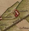Cascina Continassa.Carta Topografica della Caccia, 1760-1766 circa. © Archivio di Stato di Torino