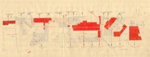 Bombardamenti aerei. Censimento edifici danneggiati o distrutti. ASCT Fondo danni di guerra inv. 451 cart. 9 fasc. 2 sciarpa. © Archivio Storico della Città di Torino