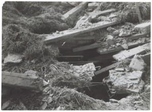 Fiat Mirafiori. Effetti prodotti dai bombardamenti del 4-5 dicembre 1940. UPA 0961D_9A02-29. © Archivio Storico della Città di Torino