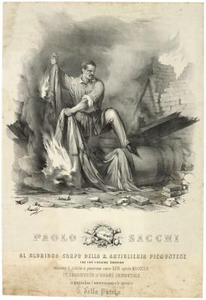 Paolo Sacchi, litografia dei F.lli Doyen. © Archivio Storico della Città di Torino