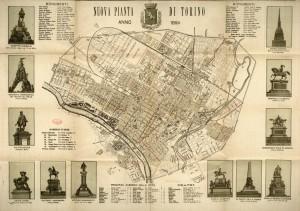 Nuova pianta di Torino, 1894. Biblioteca civica centrale, Cartografico  3/4.14.02   © Biblioteche civiche torinesi
