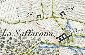 Cascina Pansa. Antonio Rabbini , Topografia della Città e Territorio di Torino, 1840. © Archivio Storico della Città di Torino