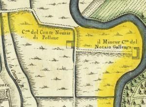 Cascina Perrone. Amedeo Grossi, Carta Corografica dimostrativa del territorio della Città di Torino, 1791. © Archivio Storico della Città di Torino