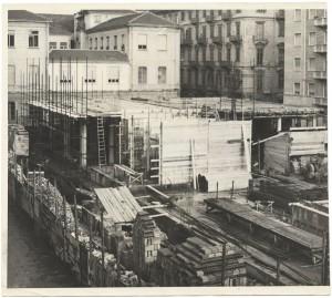 Il nuovo edificio della Biblioteca civica in costruzione, 1958 circa. Biblioteca civica Centrale © Biblioteche civiche torinesi