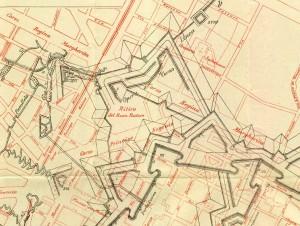 Localizzazione dell'Opera a Corno in Archivio Storico della Città di Torino, Collezione Simeom, particolare. © Archivio Storico della Città di Torino