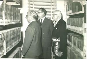 Inaugurazione del nuovo edificio della Biblioteca civica con il Presidente della Repubblica Giovanni Gronchi, 3 novembre 1960. Biblioteca civica Centrale © Biblioteche civiche torinesi