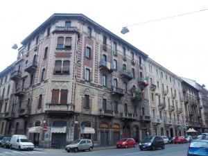 Giuseppe Maria Giulietti, Case Rama, Via Cibrario 61, 63, 65, 1909-1912, veduta di insieme. Fotografia L&M, 2011.
