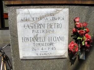 Lapide dedicata a Fontanelle Luciano (1924 - 1945), Gasperini Pietro (1925 - 1945)