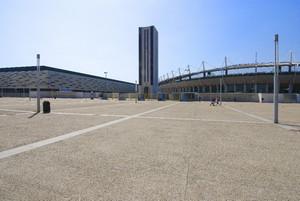 Veduta del Palaisozaki e dello Stadio Olimpico. Fotografia di Bruna Biamino, 2010. © MuseoTorino.