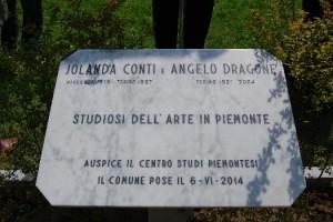 Targa commemorativa a ricordo di Jolanda Conti e Angelo Dragone