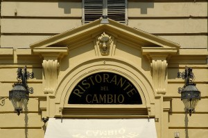 Ristorante del Cambio, particolare esterno, Fotografia di Marco Corongi, 2005 © Politecnico di Torino