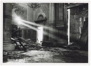 Chiesa di San Gioacchino, Corso Giulio Cesare angolo Via Vittorio Amedeo Cignaroli 3. Effetti prodotti dai bombardamenti dell'incursione aerea dell'8-9 dicembre 1942. UPA 2755_9C06-04. © Archivio Storico della Città di Torino