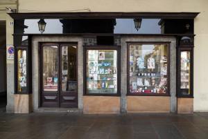 Farmacia Algostino De Michelis, esterno ex profumeria Binfa, 2016 © Archivio Storico della Città di Torino