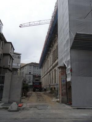 Istituto Richelmy. Ingresso carraio, oggi in fase di ristrutturazione. Fotografia L&M, 2011.