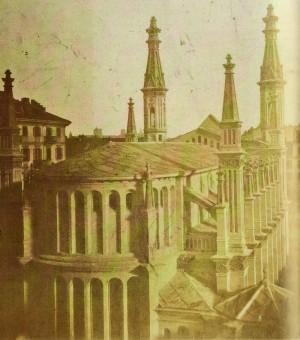Tempio Valdese, abside. Fotografia di Venanzio Sella, 1854