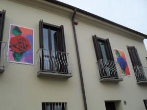Ferruccio d'Angelo, Senza titolo, 2000,opera murale, via Locana 16. Fotografia dell' Archivio Museo d'Arte Urbana © Museo d'Arte Urbana